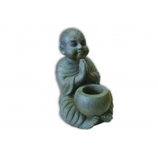 Monk Stone Candle